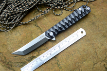 Y-START black Tanto titanium knife 440C fold blade TC4 handle hunting outdoor camping knives tools