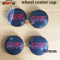 Wholesale O.Z OZ RACING Logo 100pcs 60MM Black sliver base car wheel logo emblem Wheel Dust proof emblem covers