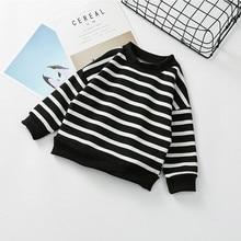 Children's clothing boys and girls baby stripes winter new children's high-collar plus velvet thick children's sweater