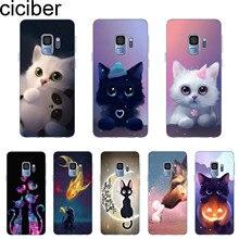 ciciber Cover For Samsung Galaxy S10 S10e S10+ S 5 6 7 8 9 Edge Plus Phone Case Note TPU Cute Animal Cat Coque