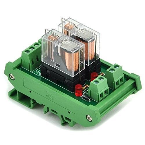 Electronics-Salon DIN Rail Mount AC/DC 12V control 2 SPDT 16Amp Pluggable Power Relay Module, G2R-1-EElectronics-Salon DIN Rail Mount AC/DC 12V control 2 SPDT 16Amp Pluggable Power Relay Module, G2R-1-E