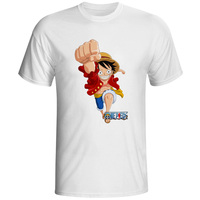 One Piece T Shirt Brand Men T Shirt Funny Luffy T Shirts Zoro And Nami White