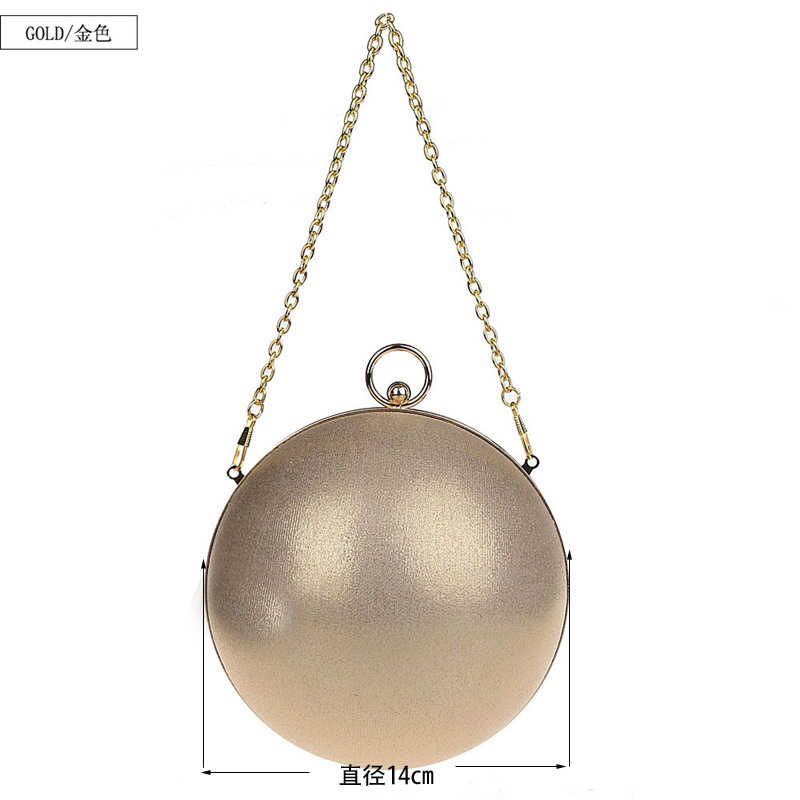 Известный бренд Дизайн мода жемчужина мяч Форма Вечерние сумки милые цвета: золотистый, серебристый пати круглый Глобусы Сумки сумка женщина кошелек