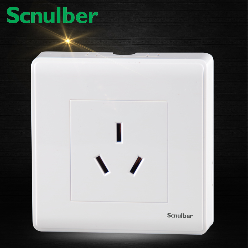 air condition water heater white 86mm surface mounted 16A 220V socket outlet wal switch