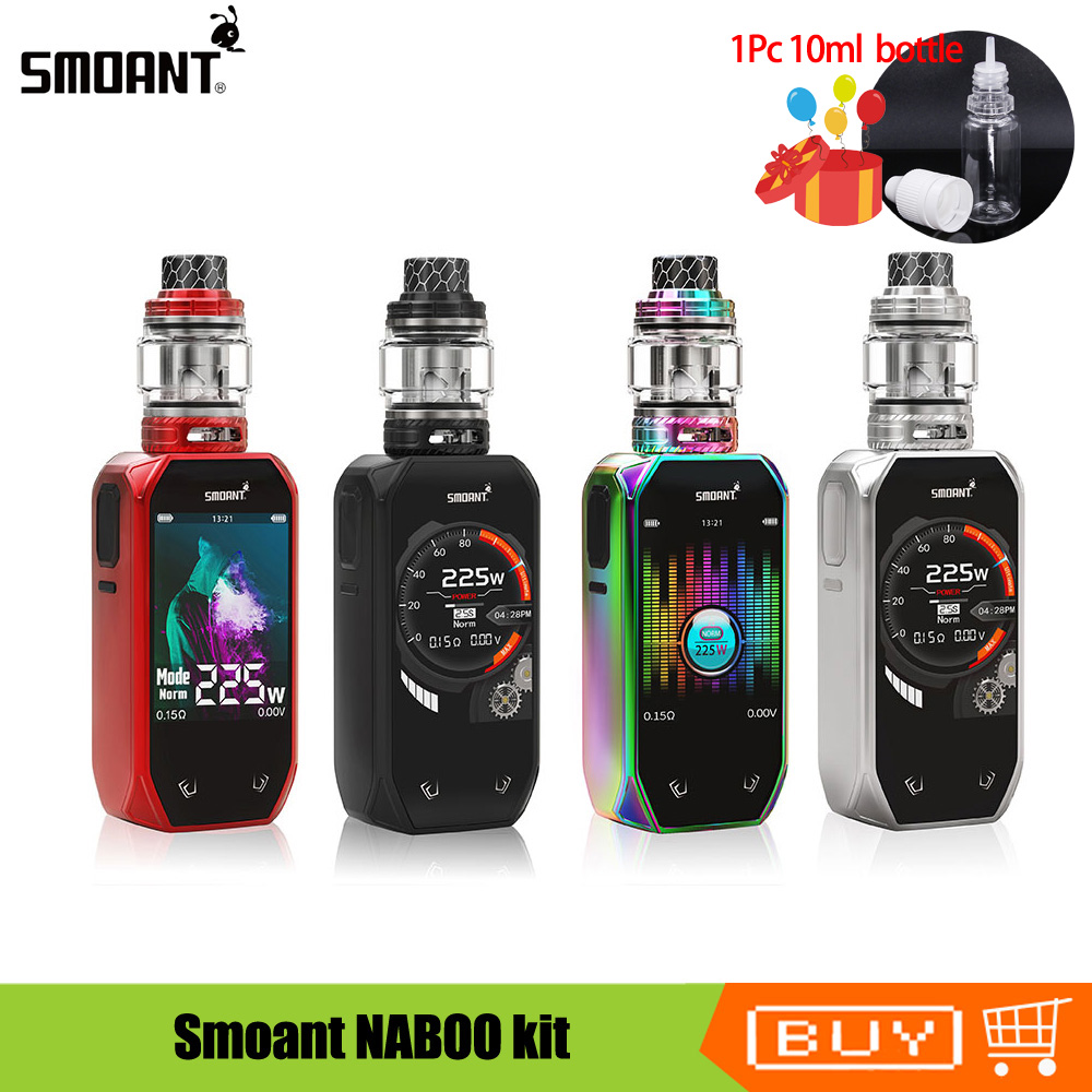 Original Smoant NABOO kit 225w Naboo Box Mod TFT color screen With 4ml Mesh sub ohm