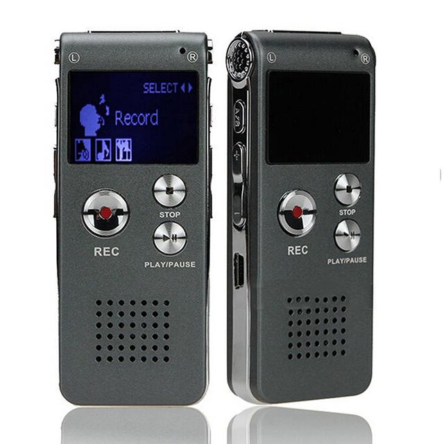 8 GB Marca Mini USB Flash de Audio Digital Grabadora de Voz gravador de Hr Dictáfono Reproductor de MP3 Gris Pen Drive Grabadora voz