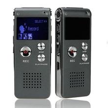 8 GB marca Mini USB Flash de Audio Digital Voice Recorder 650Hr dictáfono reproductor de MP3 gris Pen Drive Grabadora Gravador de voz