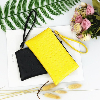 Fashion Retro Pu Leather Women Wallets Coin Purse Phone Bag Zippers Organizer Girls
