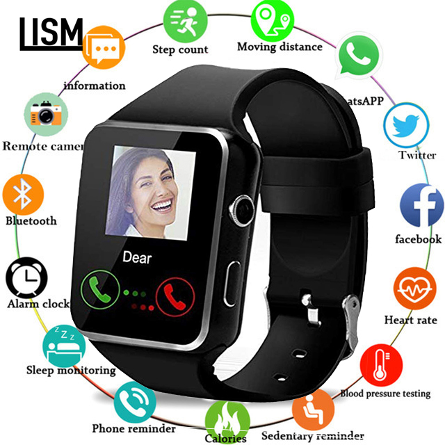 X7 Bluetooth Smart Watch With Camera Support SIM TF Card Touch Screen Alarm Clock Sleep Monitoring Sport Watch For Kid Men Women