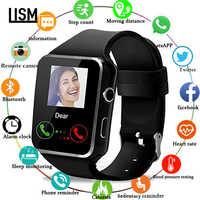 X7 Bluetooth montre intelligente avec caméra Support SIM TF carte écran tactile réveil surveillance du sommeil Sport montre pour enfant hommes femmes