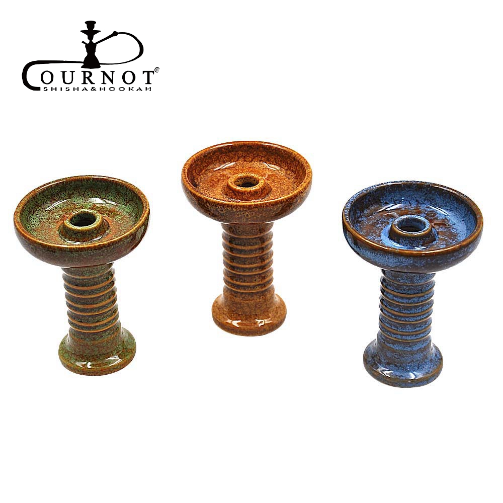 COURNOT Ceramic One hole Phunnel Bowl Hookah Head Shisha Bowl Ferris Bowl Hookah with Grommet narguile