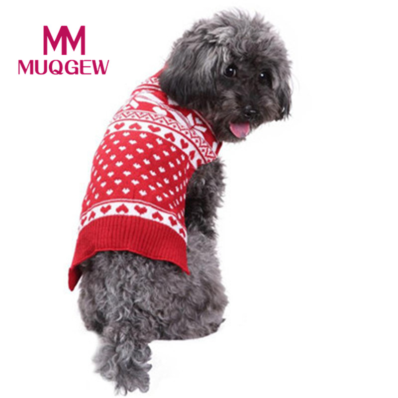 mounter pet dog christmas sweater puppy cat winter warm clothes reindeer jumper coat apparel snowflakes pullover