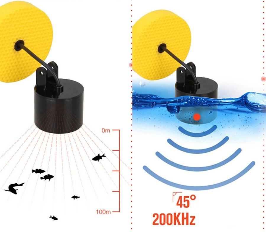 LCD Localizadores de Peixe isca De Pesca