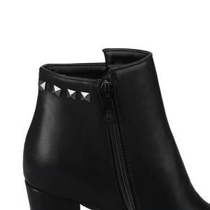 Image 4 - MORAZORA 2020 جديد أحذية أنيقة امرأة جولة تو الخريف الشتاء حذاء من الجلد للنساء مثير منصة حزب أحذية عالية الكعب الأحذية