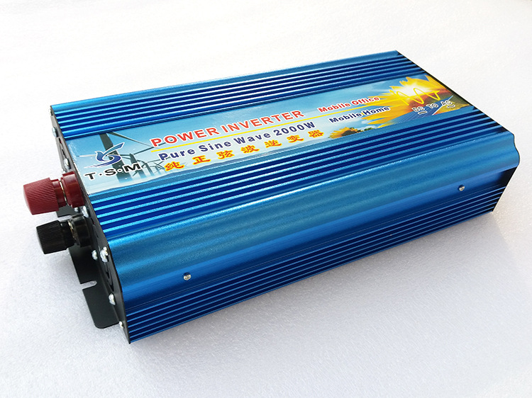 4000W Peak Car Power Inverter 12V 220V 2000W Pure Sine Wave Solar Inverter Power Supply Converter 12V/24V DC to 120/230V/240V AC