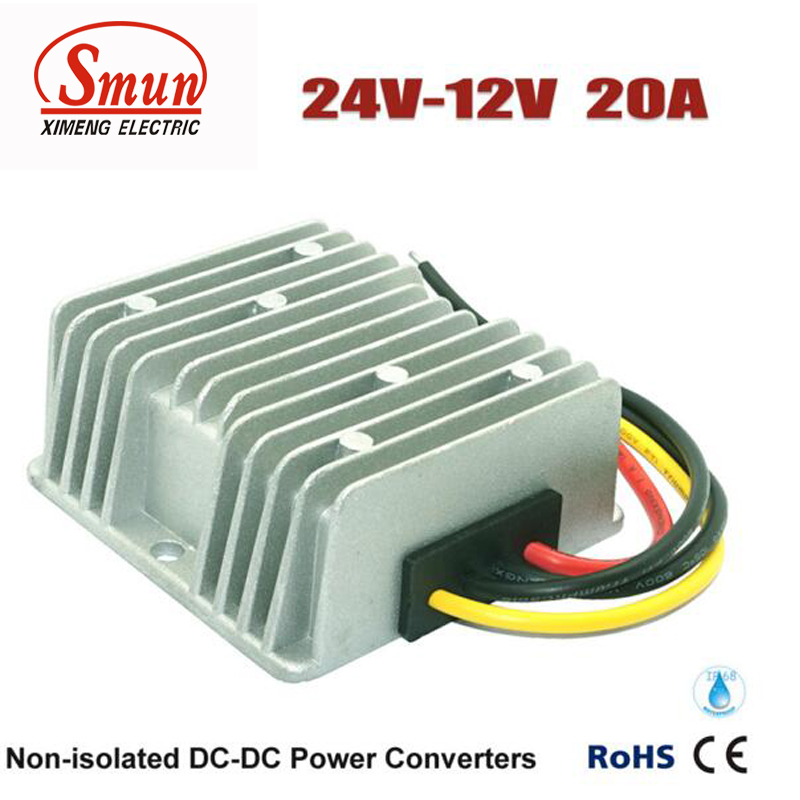 24VDC to 12VDC 20A 240W DC-DC Converter and Car Power Supply With IP68 Waterproof rs232 to rs485 converter with optical isolation passive interface protection