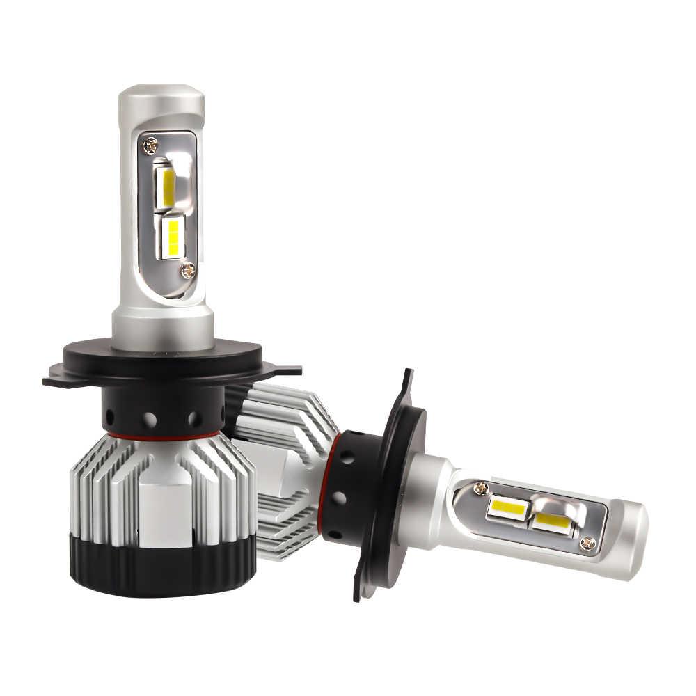 CN360 2PCS H7 LED Headlight H4 9003 H11 9005 HB3 9006 HB4 Car Light Canbus No Error Lamp 12V 24V 14000LM 6500K 45W Headlamp Bulb