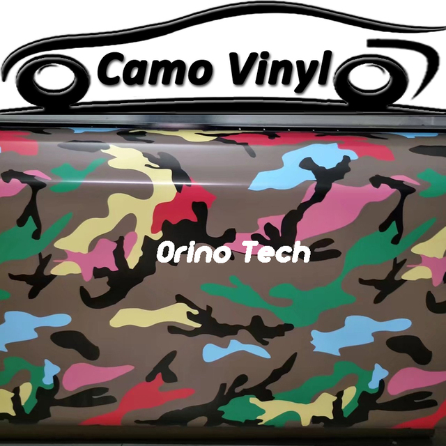 Car Styling Wrapping Colorful Snow Camouflage Sticker Wrap Film - Custom vinyl decals covering for motorcycles