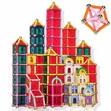 825pcs/Set Magnetic Building Stick Blocks brinquedo Early Educational Castle Building Blocks Bricks Toys for Kids