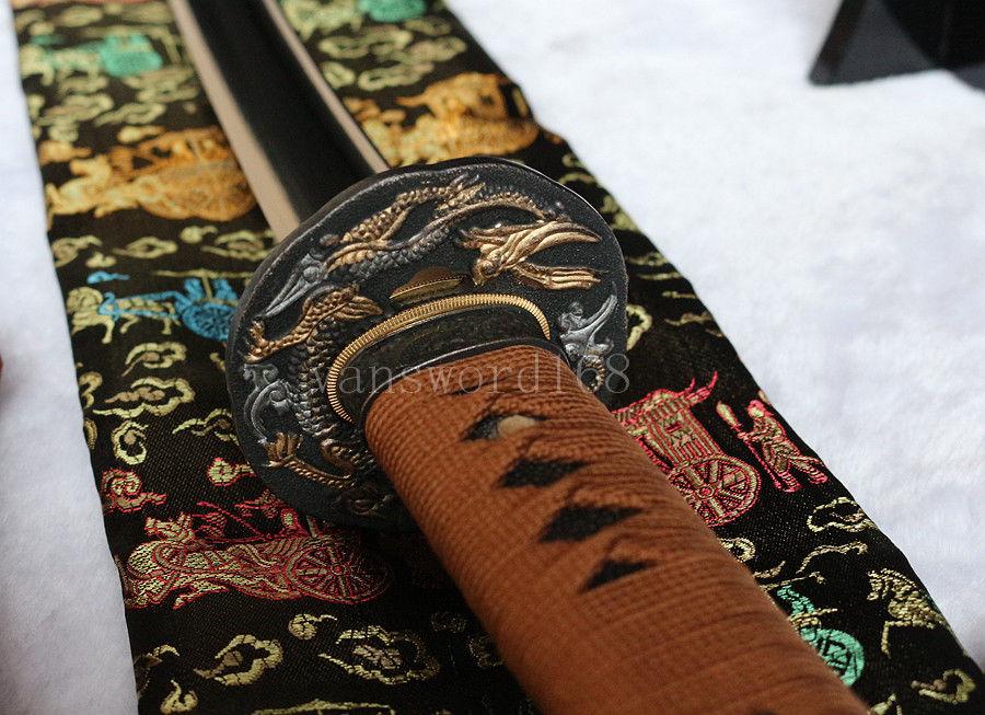 Berdiri bebas + pedang Penuh Tang Tangan menempa 1060 baja karbon - Dekorasi rumah - Foto 6