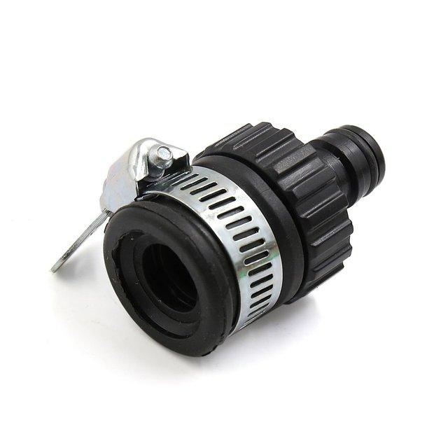 Uxcell שחור אנטי דולף בית רכב עצמי נעילת סוג מים ברז צינור משותף מחבר