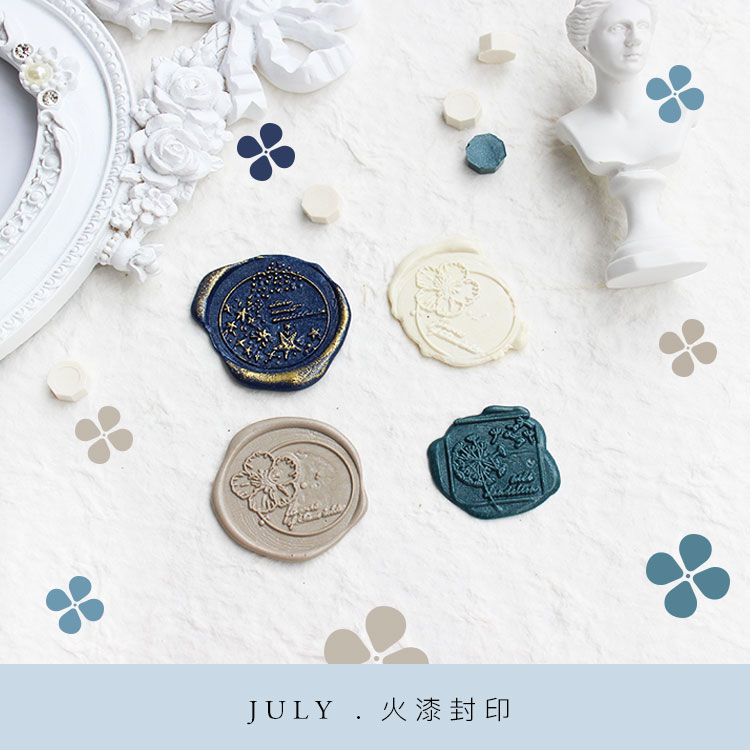 Moodtape Personality Stamp Wood Wax Seal Stamp For DIY Gift / Invitation  Album Decorative Stamp Star Dandelion Metal Stamp Seal