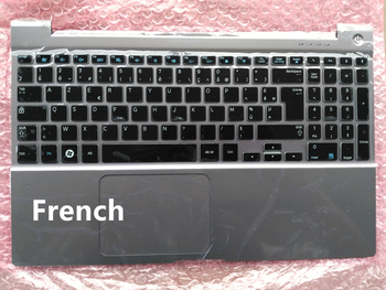 """French/Latin/Portuguese layout New laptop keyboard  with touchpad palmrest  for  SAMSUNG Series 7 700Z5B 700Z5A 15.6"""""""