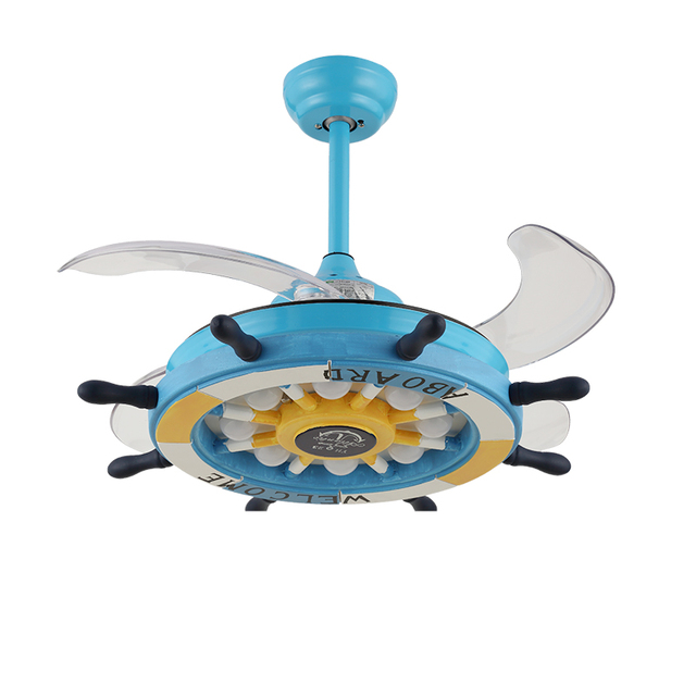 Jcz 36inch 42inch led cartoon creative rudder remote control jcz 36inch 42inch led cartoon creative rudder remote control invisible ceiling fan lamp childrens room with aloadofball Image collections