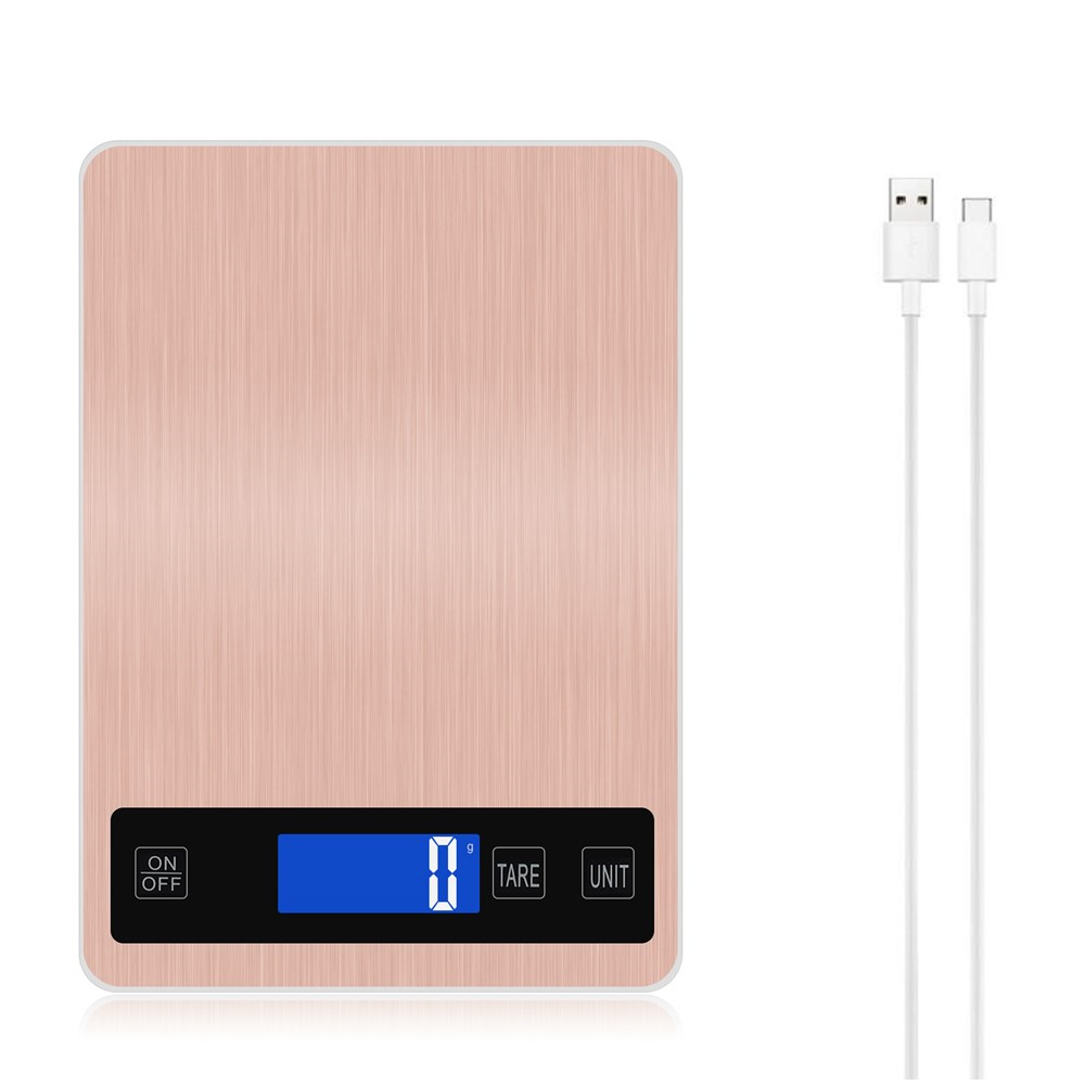 10 Kg /1g 5kg Electronic USB Kitchen Scale Digital Food Scale Stainless Steel Weighing Scale LCD High Precision Measuring Tools