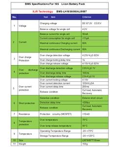 Image 2 - גרסת S lipo ליתיום פולימר 16 S 60A BMS/PCM/PCB לוח הגנת סוללה עבור 16 חבילות 18650 תא סוללה ליתיום נטענת w/איזון