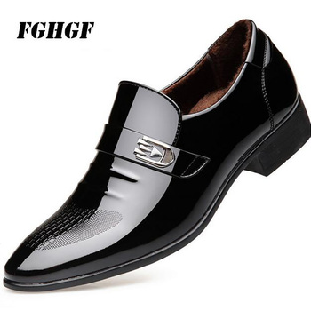 Business shoes men's seasonal casual shoes British business shoes leisure dress pointed shoes Add cotton  To keep warm 38-45