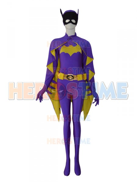 New Spandex Batgirl Design Custom Symbol Superhero Costume Zentai Suit Superwoman Cosplay Costume
