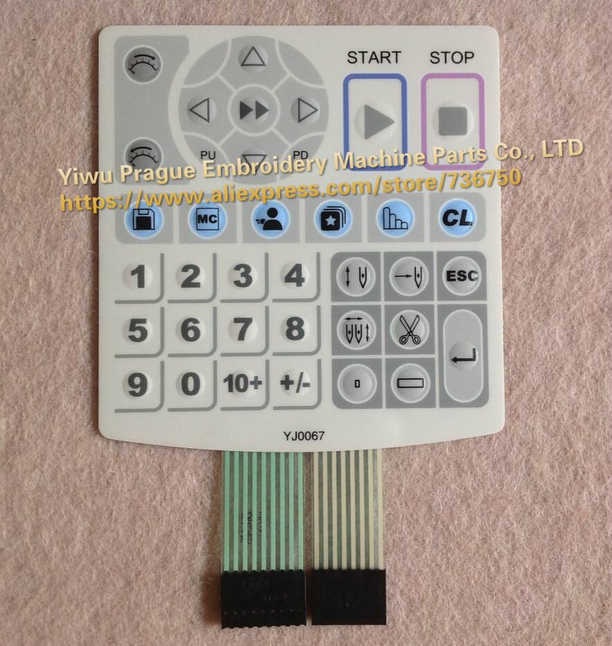 Genuine Dahao YJ0067 keyboard keypad membrane switch for operation box panel 129S China embroidery machine spare