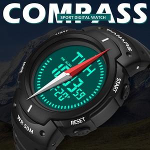 Image 2 - PANARS boussole montre Sport plein air hommes montre numérique électronique montres bracelets mâle chronographe chronomètre antichoc étanche