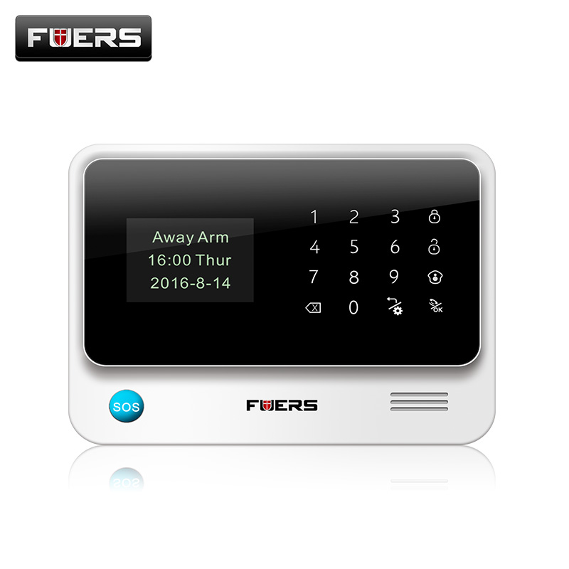 Fuers 2018 Update G90B Plus 2G 2.4G WiFi GSM SMS Wireless Home Security Alarm System IOS Android APP Remote Control g90b 2 4g wifi gsm gprs sms wireless home security alarm system ios android app remote control detector sensor