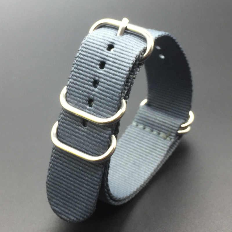 """מוצר חדש ניילון עמיד רצועות 18mm 20mm 22mm 24mm ניילון להקת שעון נאט""""ו רצועת זולו רצועת השעון אבזם טבעת"""