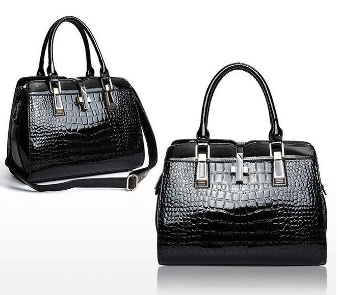 Crocodile Blue Casual Tote Women Bag Red Handbags Zipper Elegant Lady Versatile Messenger Bags In Top Handle From Luggage On