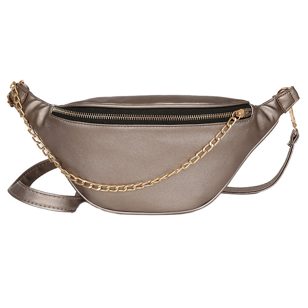 Women Man Chest Bag Fashion Neutral Sport Leather Beach Chain Messenger Crossbody Waist Pack Handbag On The Belt Nerka Torebka