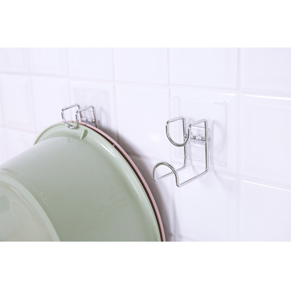 Self Adhesive Towel Holder Hanger Wall Mounted Kitchen Bathroom Storage Rack