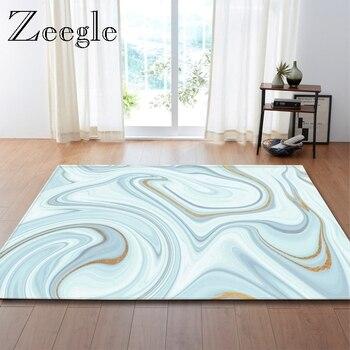 Zeegle Nordic Style Rugs Marble Pattern Modern Living Room Carpet Non Slip Mat Carpet Soft Floor Carpet Indoors Carpet Kitchen