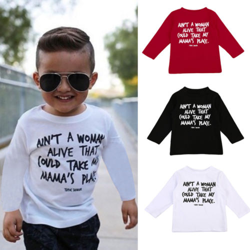 Toddler Baby Boys Long Sleeve Cotton T-Shirt Kids Autumn Casual Tops 0-4Y