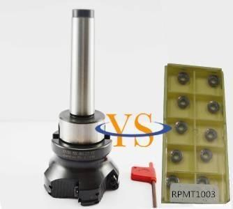 New MT4 M16 FMB27 + EMR 5R 80-27-6T face end mill +10pcs RPMT1003 carbide insert CNC Mill Tool цена