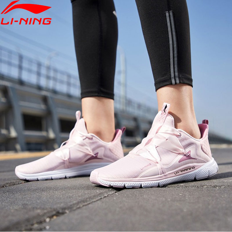 Li-Ning Women JING HONG Training Shoes Light Weight Free Flexible LiNing Comfort Breathable Sport Shoes AFHP014 YXX055