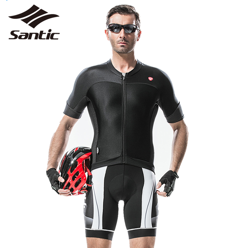 ФОТО Santic Tour De France Professional Cycling Jersey Men Breathable Bicycle Shirt DH Downhill Mountain Bike Jersey Maillot Vtt 2017