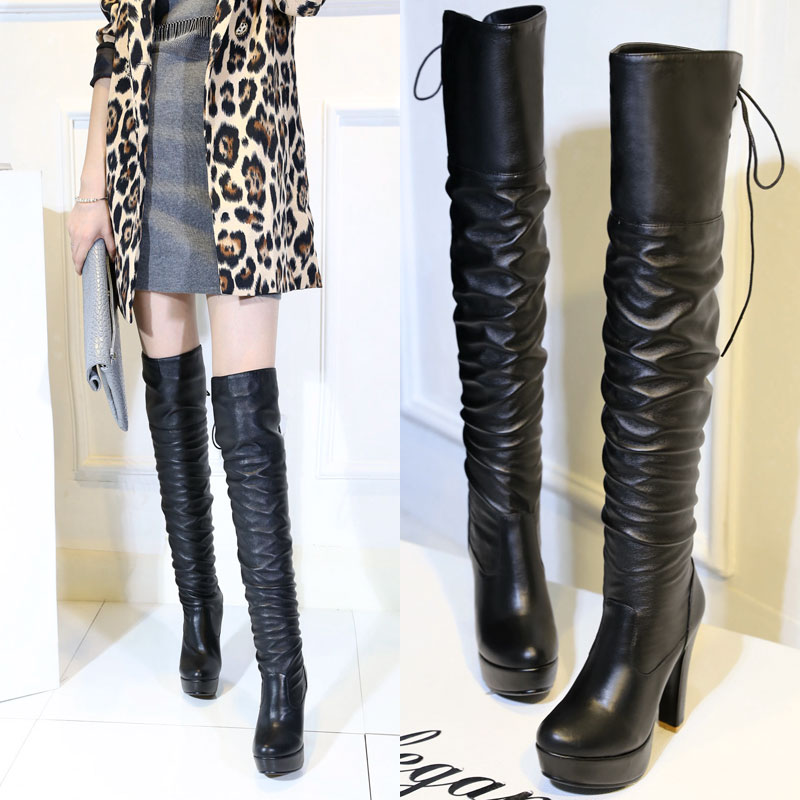 Ariari new women's shoes woman boots large sizes 34-48 autumn winter over knee boots high heels sexy party boots women