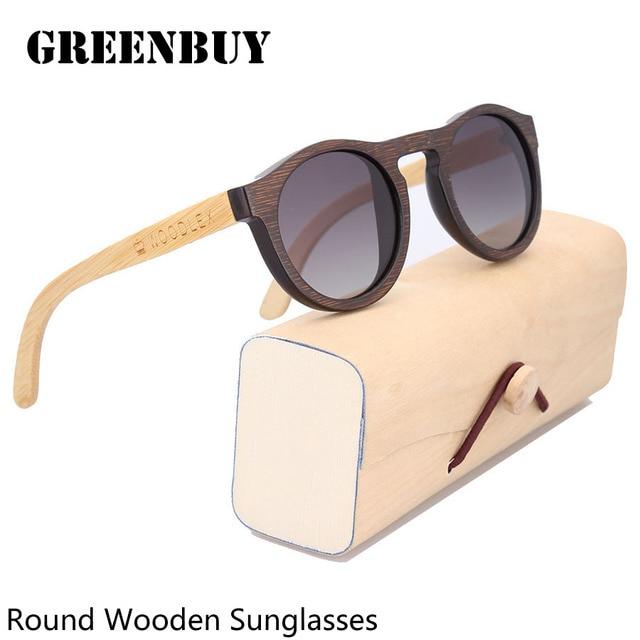Round 2016 Vogue Kids Sunglasses Gradient Bamboo Glasses Sunglass Polarized Children Sunglasses oculos de sol infantil