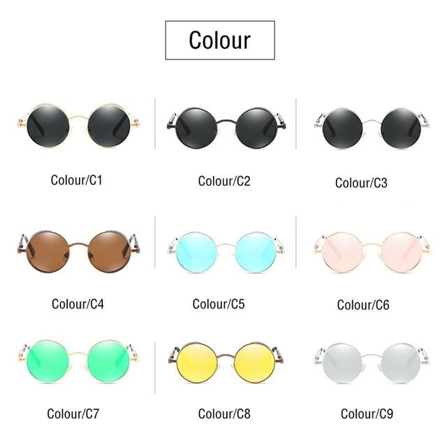 Gafas de sol góticas polarizadas clásicas para hombres y mujeres