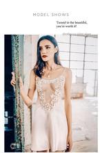 bothyoung Female sexy lace dressing gown spaghetti strap lingerie babydoll silk bathrobe kugurumi sleepwear suspender nightgown