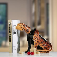 Деликатный Железный арт Леопардовый держатель для бутылки вина металлическая полка для вина скульптура практический орнамент украшение дома Декор интерьера ремесла