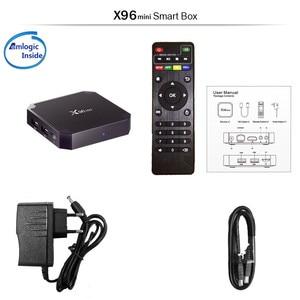 Image 5 - Wechip X96 מיני חכם אנדרואיד 7.1 טלוויזיה תיבת 2G 16G סט Top Box 1G 8G X96mini תמיכת 4K HD 2.4G אלחוטי WIFI Media Player